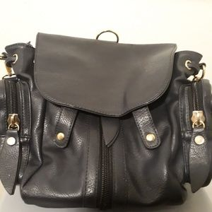 Black JustFab Backpack & Bag